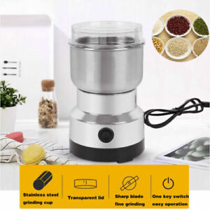 Electric Coffee Bean Grinder Stainless Steel Blades Cafe Spice Mill Blender US