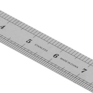 30CM 12quot;Steel Stainless Pocket Pouch Metric Metal Ruler Measurement Double Sided $3.13