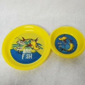 Dr Suess Holographic Kids Plastic 6quot; Bowl And 8quot; Plate