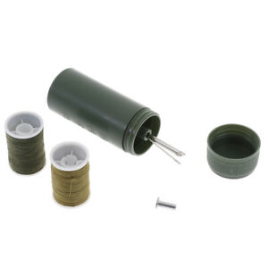 1Pc mini travel sewing kit cylinder case with threads needles craft sewing T BW C $3.13