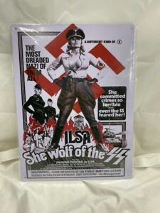 Ilsa She Wolf Of The SS Poster Metal Tin Sign Big 12 x 16 Inches