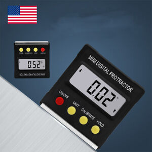 USA LCD Digital Protractor Bevel Angle Magnetic Gauge Level Meter Inclinometer $15.99