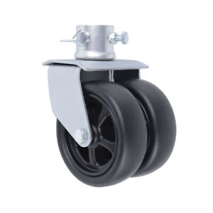 6quot; 1200lbs Dual Trailer Swirl Jack Caster Wheel with Pin fits Any Jack Better