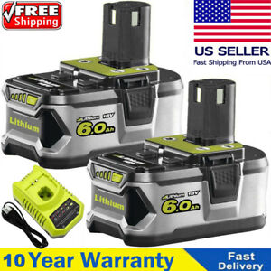 Battery Charger For RYOBI P108 18V 18 Volt One Plus High Capacity Lithium Ion