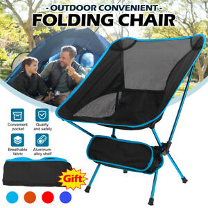 Outdoor Ultralight Portable Folding Backpack Picnic Camping Chair Fishing Seat