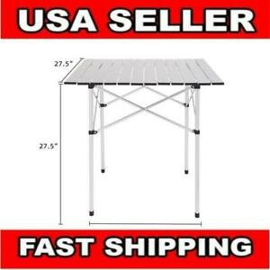 Portable Folding Camping Bench Aluminum In Outdoor Picnic Party Dining Table