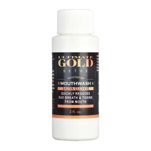 ULTIMATE GOLD DETOX Saliva Cleansing Mouth Wash Instant Acting LASTS 60 MINUTES $12.95