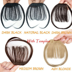 Thin Neat Air Bangs Clip In Hair One Piece Fringes AS Real Hair Extensions USA $6.99