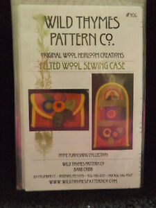 Felted Wool Sewing Case Pattern by Wild Thymes Pattern Co $11.00