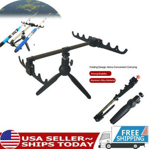 Folding Fishing Rod Rests Fishing Holder Rod Portable Outdoor Tackle Stand M8B5