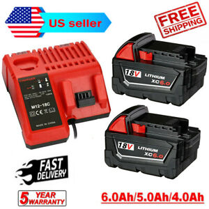 For Milwaukee M18 XC 5.0 6.0 AH Extended Lithium Battery 48 11 1860 Fast Charger