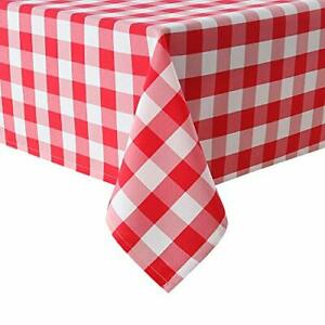 Hiasan Red Checkered Tablecloth Square for Outdoor Picnic Dining Water Resi... $25.09