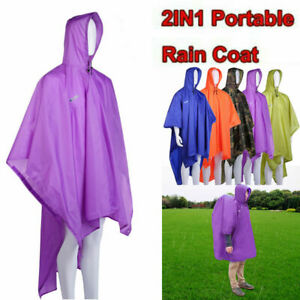 Outdoor Travel Camping Rain Cover Backpack Tarp One Piece Raincoat Poncho Cape