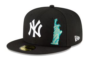 New Era 59Fifty New York NY Yankees Local Icon Fitted Hat Black MLB Cap $34.99