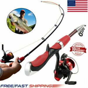 2021 Spinning Fishing Rod Reel Set Combo Carbon Ultra Light Fishing Pole Tackle