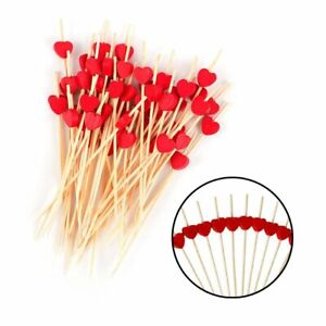 Disposable Bamboo Pick Skewer Party Buffet Fruit Desserts Food Cocktail Sandwic