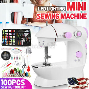 US Electric Portable Sewing Machine Desktop Tailor 2Speed Foot Pedal 12 Stitches $10.99