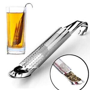 FREE SHIPPING TEA STRAINER STAINLESS STEEL SPOON INFUSER FILTER TOUCH HOLDER NEW