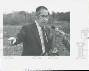 1978 Press Photo Stephen Vinciguerra Speaking with Press in Albany New York $12.88