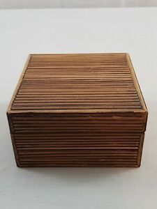 Vintage Wooden Box Marked Made In Phillippines $13.45