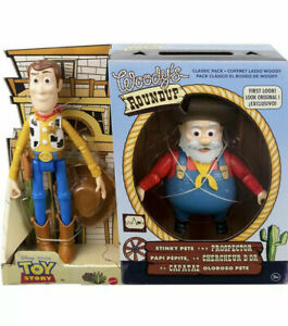 Toy Story Woody's Roundup 2 Packs Woody amp; STINKY PETE THE PROSPECTOR Brand New