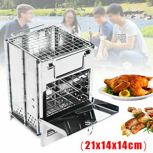 Camping Stove Stainless Steel Folding Stove for Camping Hiking Picnic Cooking US
