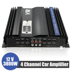 3800W 4 Channel Car Amplifier Stereo Audio HiFi Subwoofer Speakers 12V Amp US $56.99