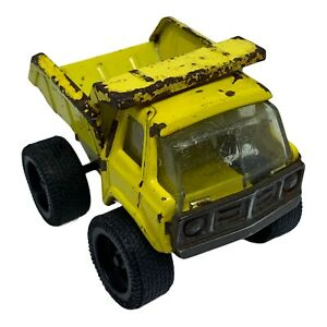 Vintage Metal Dump Truck Yellow Construction Vehicle Made in Japan