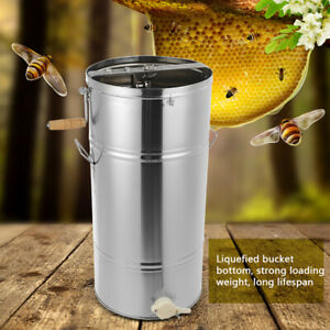 Honey Extractor 2 Two Frame stainless Manual Crank Honey Bee Spinner Beekeeping