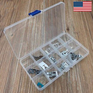 11PC Domestic Sewing Machine Presser Foot Feet Brother Singer Kit Sewing #W24 $12.99