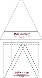 Triangle in a Square Rulers from Quilt in a Day includes FREE PATTERN $15.45