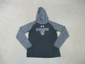 Miami Marlins Shirt Youth Large Gray White Baseball Under Armour Hoodie Kids Boy $15.10