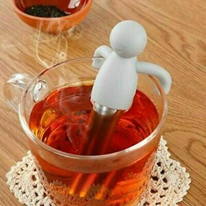 2xStainless Steel Tea Strainer Silicone Human Shaped Tea Infuser Reusable Filter