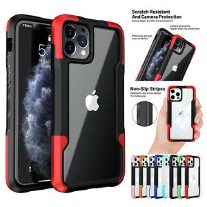 For iPhone 11 12 Pro Max XS XR 8 7 SE2 Hybrid Shockproof Bumper Clear Case Cover $3.13
