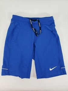 Womens Nike Dri Fit Running Shorts Navy Blue Small with Back Zip Pocket $15.99