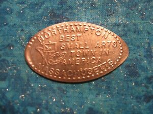 NORTHAMPTON MASS BEST SMALL ARTS TOWN AMERICA Elongated Penny Pressed Smashed 7