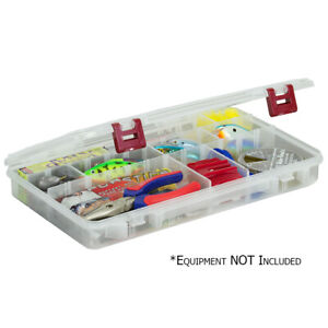 4 24 Compartment Tackle Box Fishing Storage Hooks Case Bait Lures Tray Plano NEW
