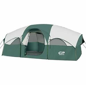 CAMPROS Tent 8 Person Camping Tents Waterproof Windproof Family Dark Green