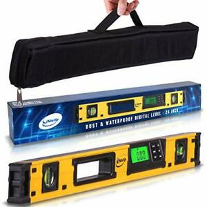 24 Inch Professional Digital Magnetic Level IP54 Electronic Level Tool $107.99