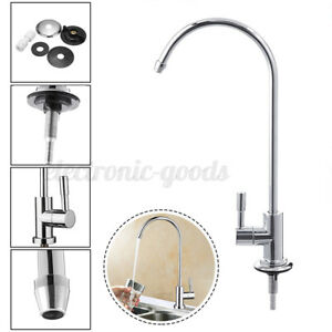 360° 1 4 RO Reverse Osmosis Filter Water Faucet Kitchen Chrome Goose Neck US $14.81