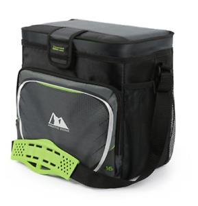 Arctic Zone 16 Can Zipperless Soft Sided Cooler with Hard Liner Grey and Green