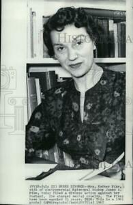 1967 Press Photo Mrs. Esther Pike wife of Bishop James Pike of Episcopal Church.