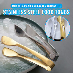 Steak Clamp Stainless Steel Food Clip Tongs Bread Meat Kitchen Cooking Tool BBQ
