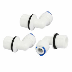 1 4 Push Fit Tube x M16 Thread Elbow Quick Connect 3pcs for Water Purifier $7.73