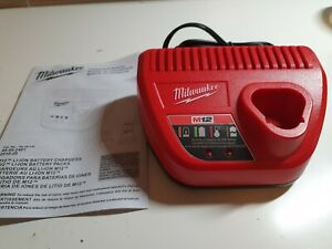 NEW Genuine Milwaukee 48 59 2401 M12 12V Lithium Ion Battery Charger 12 Volt