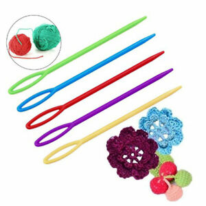 100 Pieces Plastic Darning Threading Weaving Sewing Needles for Kids Craft UTXG C $4.11