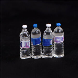 4X Dollhouse Miniature Bottled Mineral Water 1 6 1 12 Scale Model Home Decor XG C $2.04