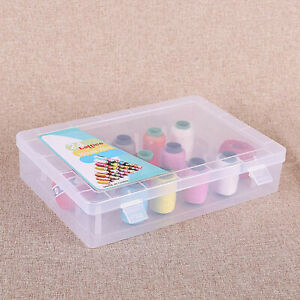 Empty Sewing Spools Box Thread Bobbins Transparent Storage Case Container Clear $15.39
