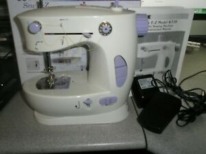 White Sew EZ Portable Small Sewing Machine Complete in box with manual $14.99