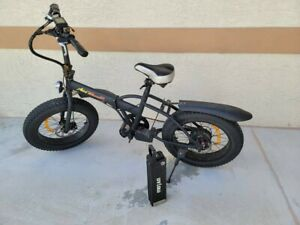 USED in good condition; Fat tire folding electric bike; 500W 48Vfoldaway 2017